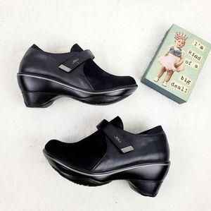 JBU by JAMBU Sedona Black clog heel shoes
